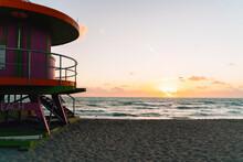 Lifeguard Hut At Miami Beach A...