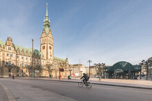 Germany, Hamburg, Cyclist Pass...