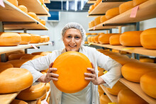 Cheese Factory, Smiling Female...