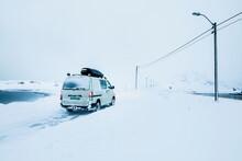 Camper Van During Snowstorm St...