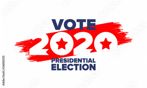 Fototapeta Presidential Election 2020 in United States. Vote day, November 3. US Election. Patriotic american element. Poster, card, banner and background. Vector illustration obraz