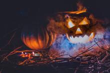 Happy Hallowen Decoration With Smoke Color
