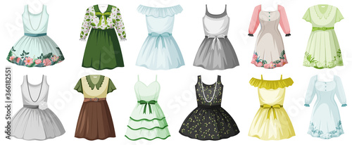 Fototapeta Set of costume objects obraz