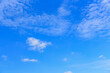 Clear and clean of blue sky and white clouds for nature background in the summer.