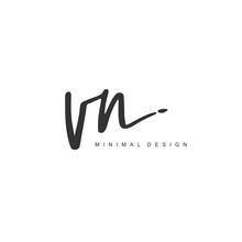 V N VN Initial Handwriting Or ...