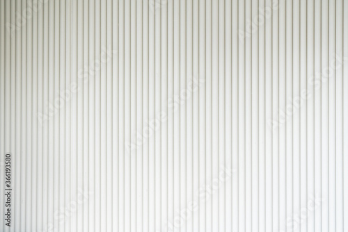Seamless corrugated wood sheet facade in white color / architecture / seamless p Canvas