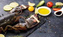 Delicious Fresh Lobster On Dar...