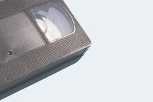 Detail Of Vhs Tape On A Blue B...