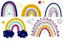 Vector Rainbow Clipart Set Chi...