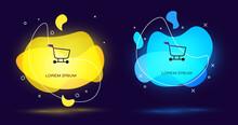Black Shopping Cart Icon Isola...