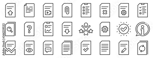 Set of Report, Checklist and Copy icons Fototapete