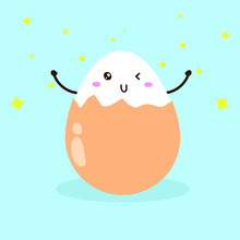 Cute Happy Lovely Eggs Charact...