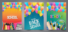 A Set Of School Flyers Or Post...