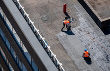 Birds Eye View Of A Roof Const...