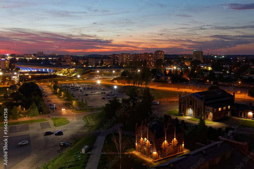 Fototapeta Katowicka strefa kutury o zachodzie słońca