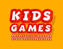 Vector Playful Logo Kids Games...