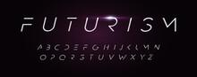 Futurism Style Alphabet. Thin ...
