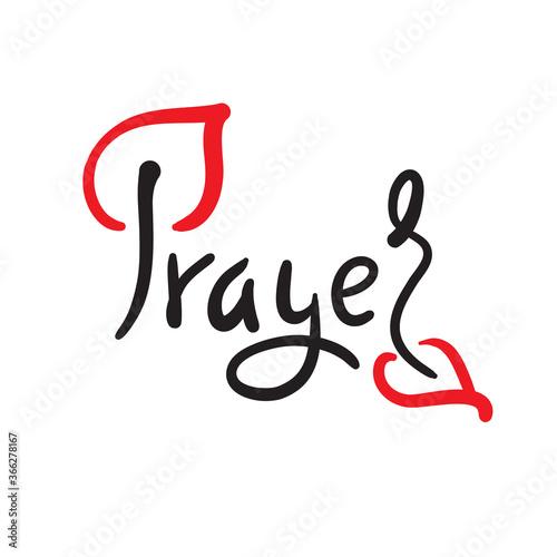 Fényképezés Prayer - inspire motivational religious quote
