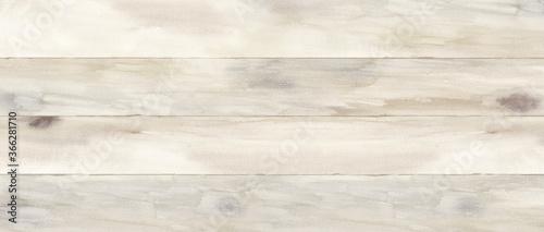 Canvas Print 木目の水彩イラスト背景。木の板を合わせた床や天板、壁。