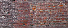 Background Of Old Red Brick Wa...