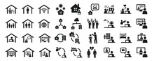 Set Of Business Icons Related ...