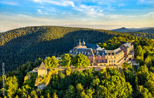 Mont Sainte-Odile Abbey in the Vosges Mountains Canvas Print