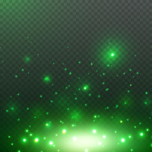 Green Glitter Particles, Shine...