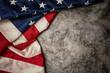 United States Flag On Black Background.