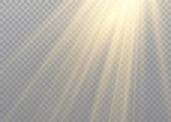 Flash effect sunlight.