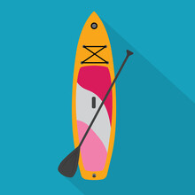 SUP Board Icon- Vector Illustr...