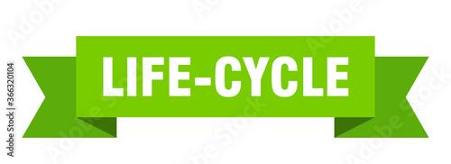 Tablou Canvas life-cycle ribbon. life-cycle paper band banner sign