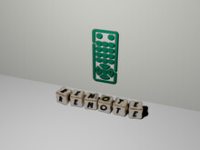 3D Graphical Image Of Remote V...
