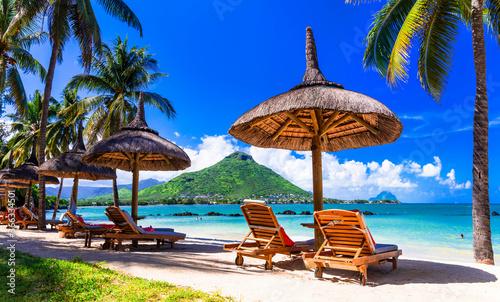 Fototapeta Relaxing holidays in tropical paradise