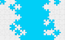 Blue Puzzle Background 3d Rend...
