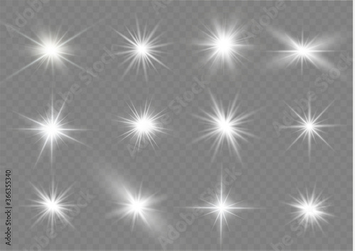 White light stars. Canvas-taulu