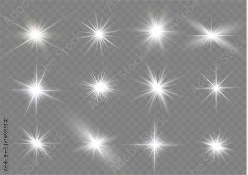 Fototapeta White light stars. obraz