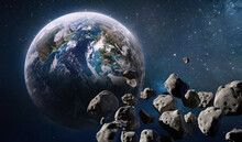 Earth Planet And Asteroid Belt...