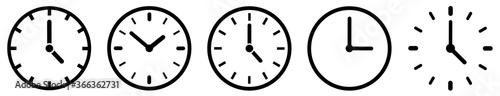 Foto Clock icon set