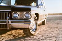 Vintage Car On Dirt Road