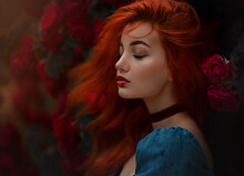 Portrait Of A Red Haired Girl ...