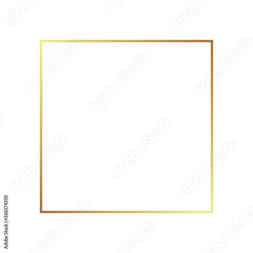 Photo Gold frame border golden vector thin boarder square element