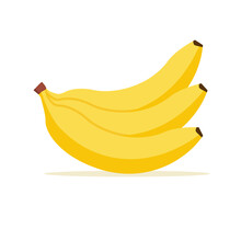 Banana Vector Cartoon Isolated...