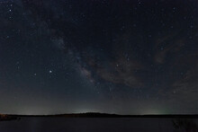 Milky Way Galaxy And Light Wis...