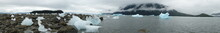 Panorama Of Sea, Ice And Mountains In Alaska