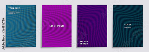 Obraz Semicircle lines halftone grid covers vector set. - fototapety do salonu