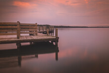 Calm Sunset At Lake In North C...