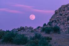Moon Over The Mountain