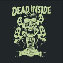 Dead Inside Skull Zombie Dark ...