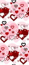 Cute Seamless Pattern. Hearts ...