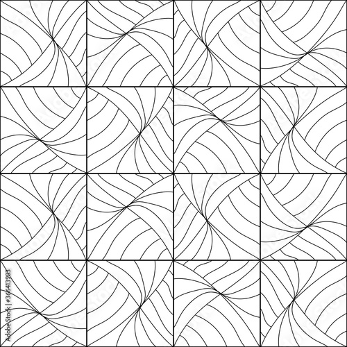 Obraz Seamless Abstract Cubes Pattern. Hand drawn geometric tile . Vector Black and white elements - fototapety do salonu